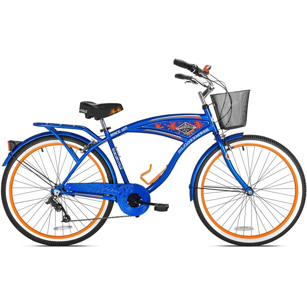 Walmart Bca 26 Men S Margaritaville Multi Speed Cruiser Bike Blue 45