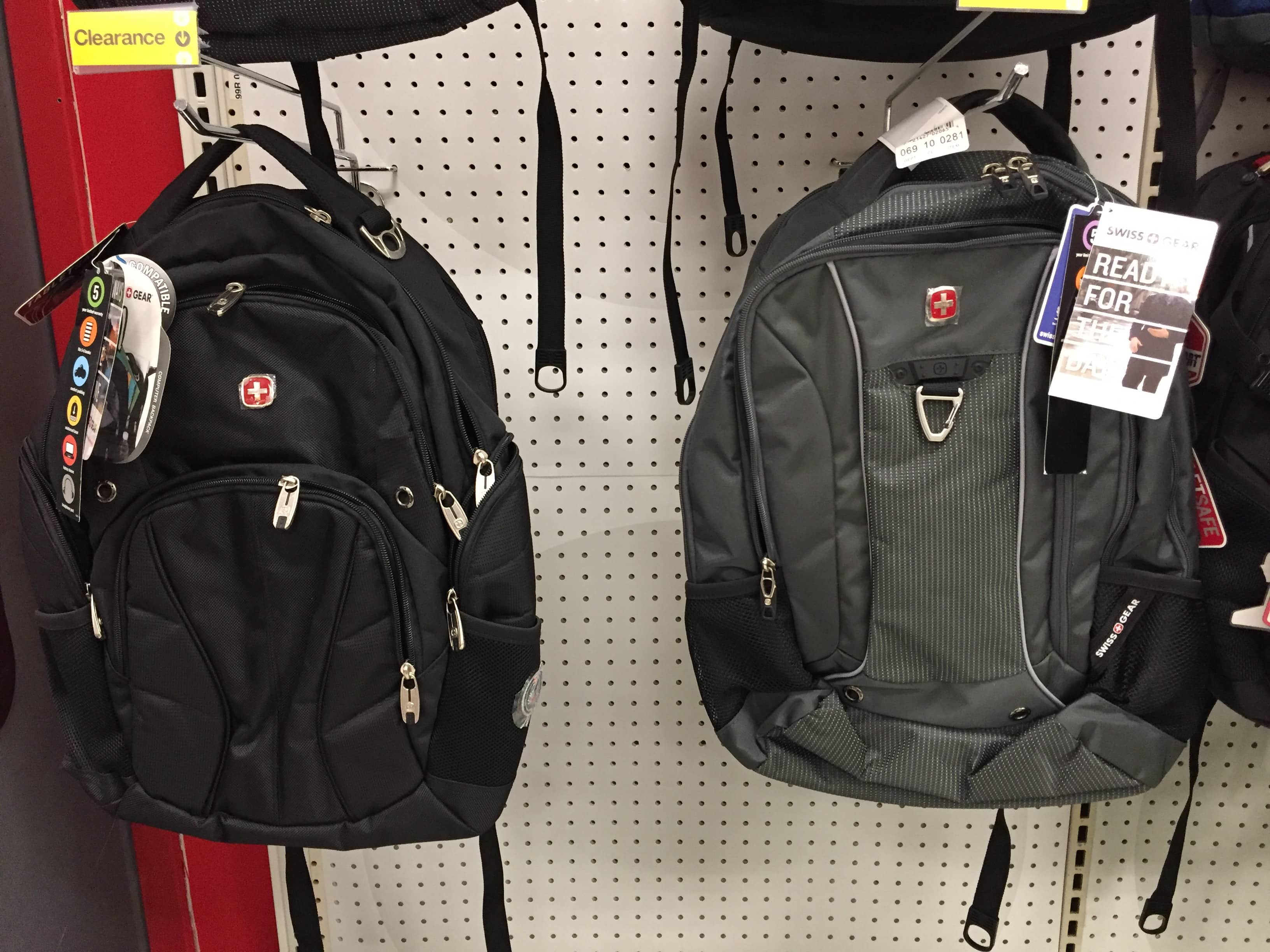 5085816c12 Swiss Gear Backpacks -  15 and  30 on Clearance at Target B M - YMMV ...