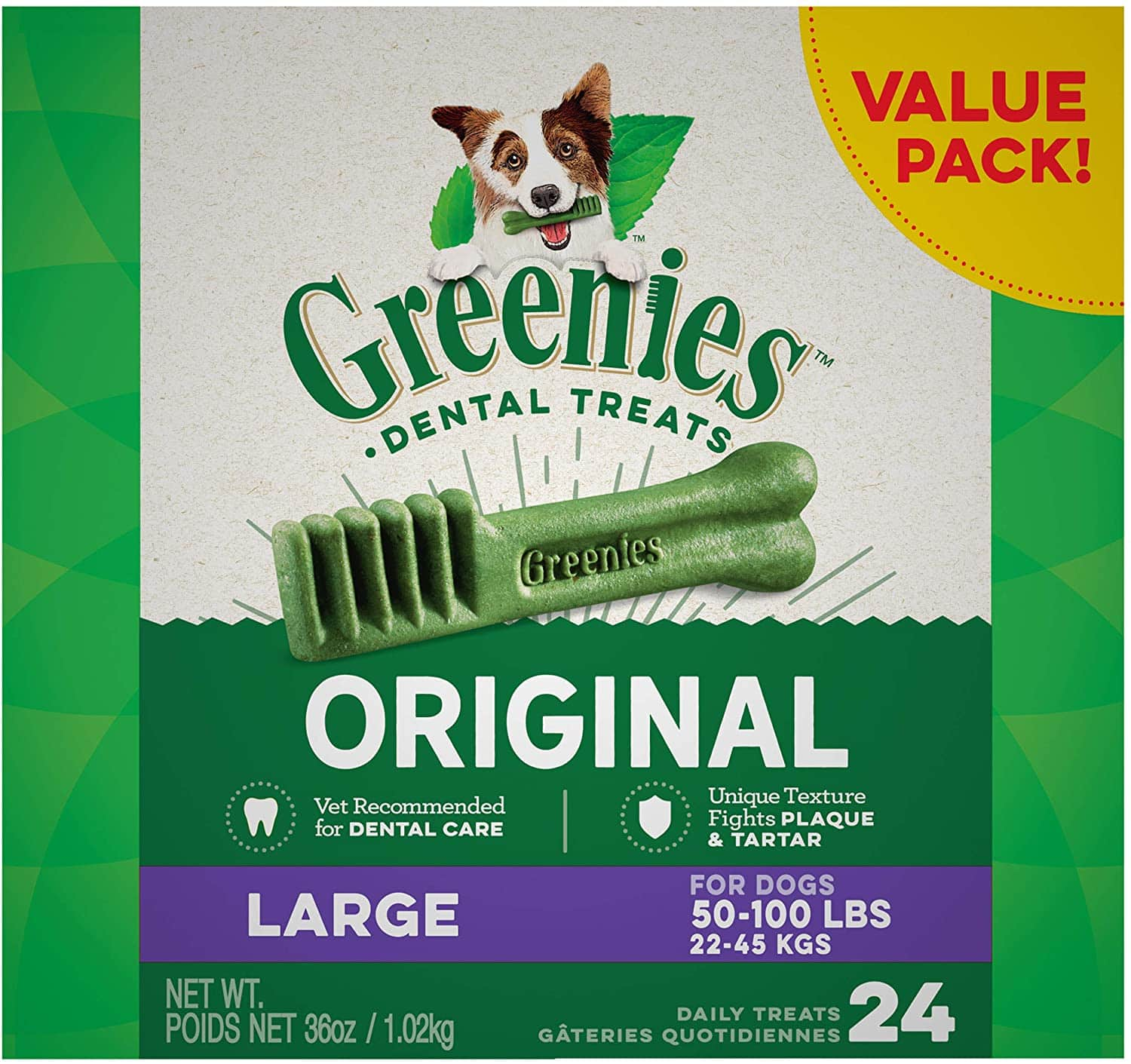 Amazon - Greenies dog treats - 40% off + 5% off with subscribe and save - discount applied to all size treats
