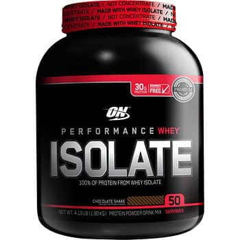 Optimum Nutrition 100% Whey Protein Isolate, 4-pounds $10 off $32.99 final before tax BM is even lower