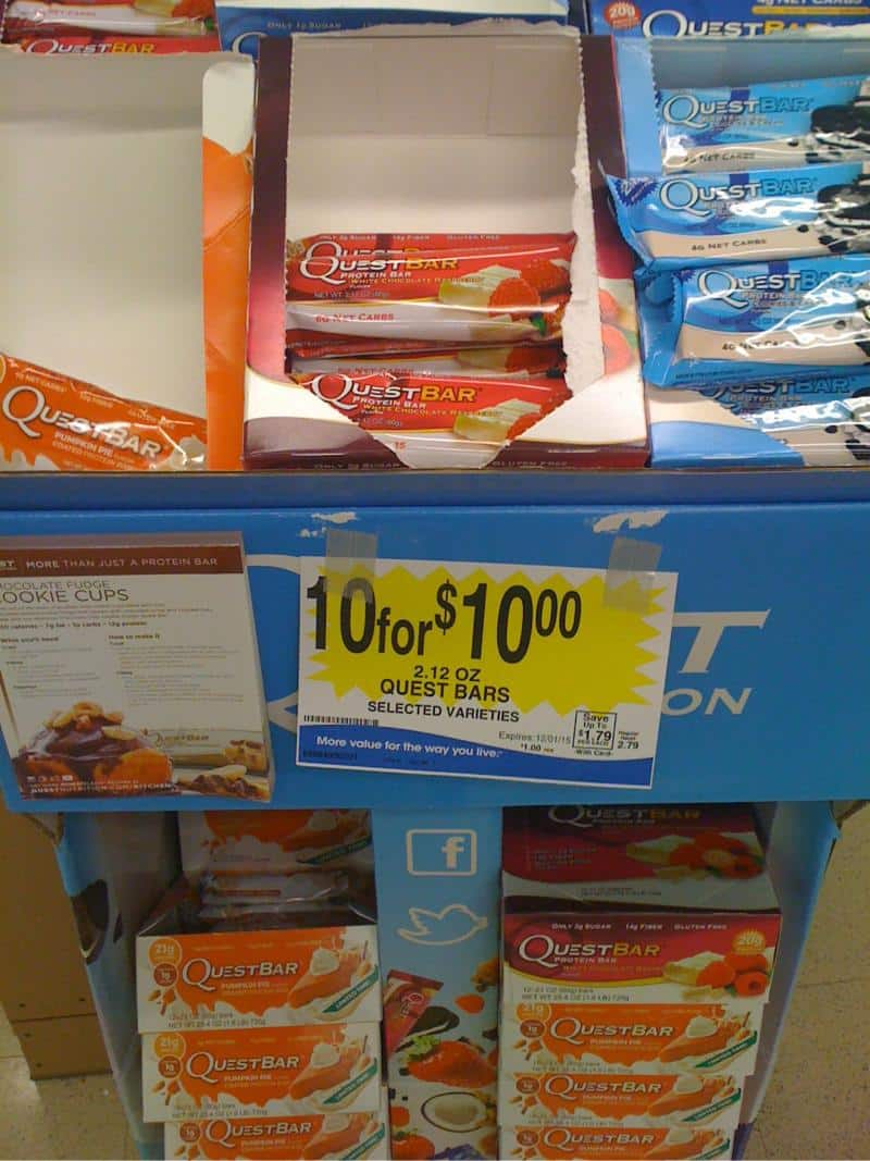Quest Bar selected varieties at FredMeyer and QFC stores $1 each bar B&M, YMMV