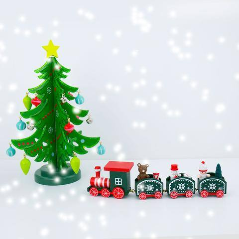 Small Christmas Tree and Decorations Train $8.99 @everymarket