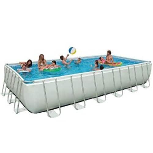 Intex 24ft X 12ft X 52in Ultra Frame Rectangular Pool Set $749.99
