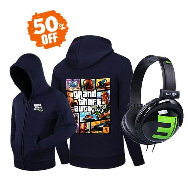 [50% OFF] GTA V Hoodie and Headphones Bundle  (Save $45) + Free Shipping (Kill Ping) $44.99