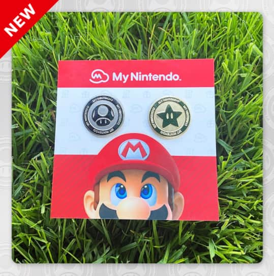 My Nintendo Platinum Point and Gold Point Coins Pin Set | Rewards | My Nintendo