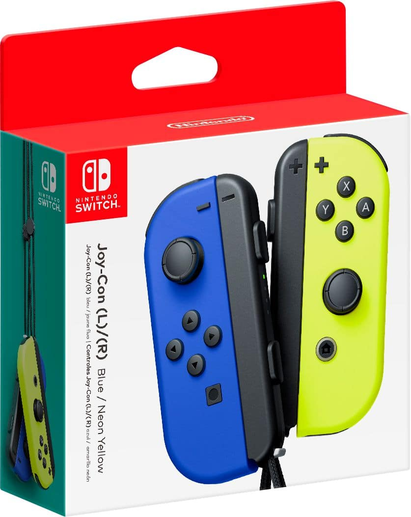 Joy-Con (L/R) Wireless Controllers for Nintendo Switch - Blue/Neon Yellow @ Bestbuy.com for store pickup $79.99