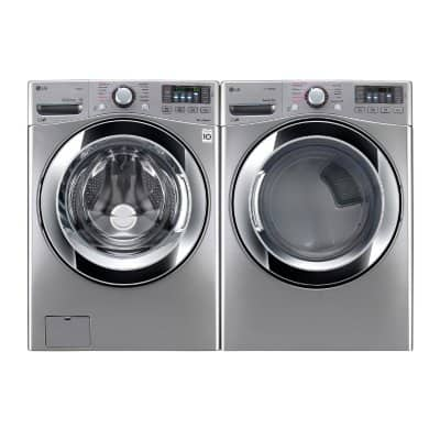 LG Ultra-Large Capacity Front-Load Washer [WM3670HVA] and Electric Dryer [DLEX3370V] Bundle - Graphite Steel +FS but taxes are not included $1396 (ENDS July 11th, 2018)