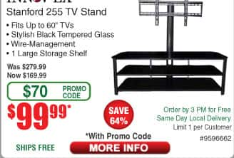 Innovex TV STAND with mount FOR 99.99 from 279.99