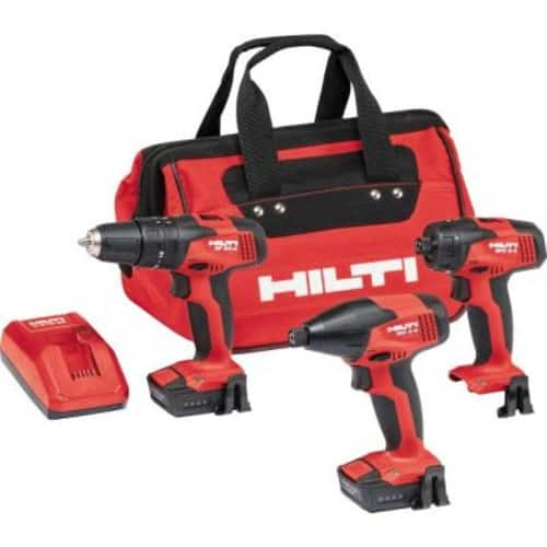 New Hilti  12-Volt Lithium-Ion Cordless Rotary Impact Driver/Impact Driver/Drill Driver Combo Kit with CA-B12 Adapter (3-Tool) $239.99
