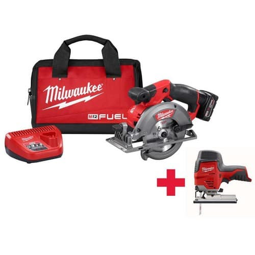 $229.99 Milwaukee  M12 FUEL 12-Volt Lithium-Ion 5-3/8 in. Cordless Circular Saw Kit /W Free M12 Jig Saw