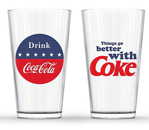 Coca Cola Red White and Blue Pub Glass (Set of 2) $14.99 + FS @AMAZON W/PRIME