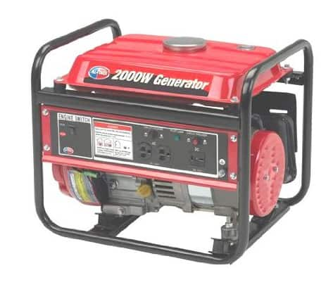 1400 Running Watts/2000 Starting Watts, Gas Powered Portable Generator $300.48 @Amazon +FS with Prime