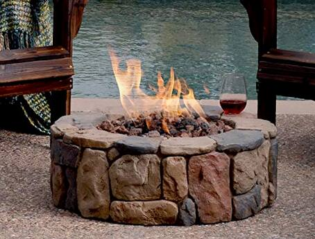 Nice Gas fire pit on sale @amazon $260.00