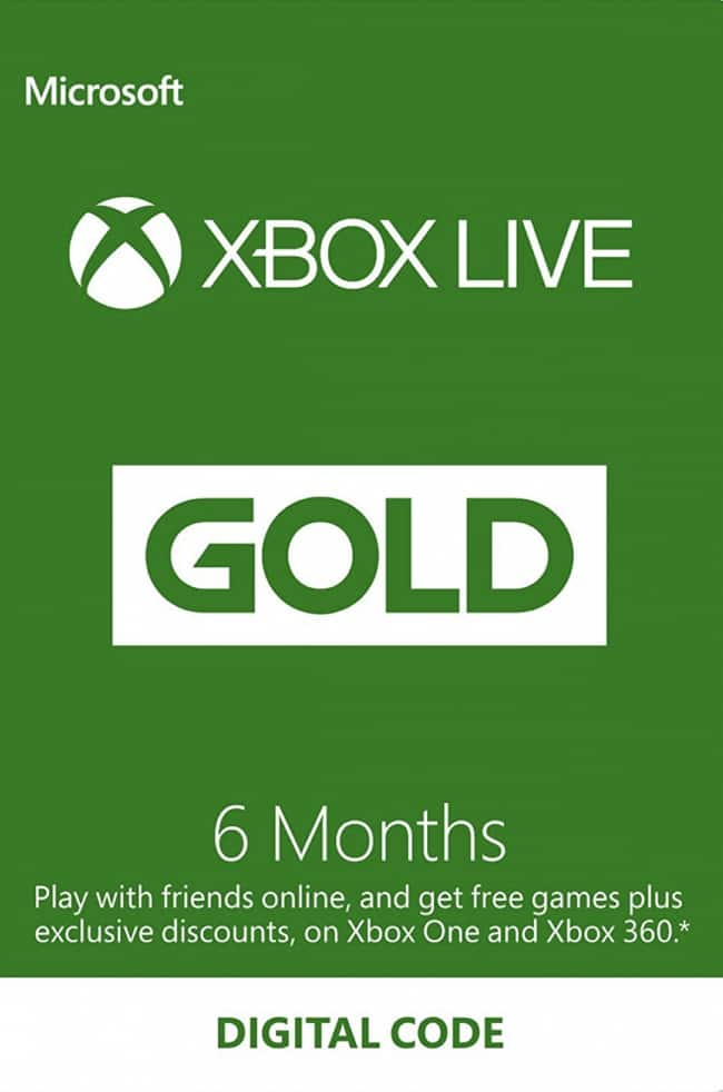 Xbox Live Gold 6-Months for $24.29 @cdkeys