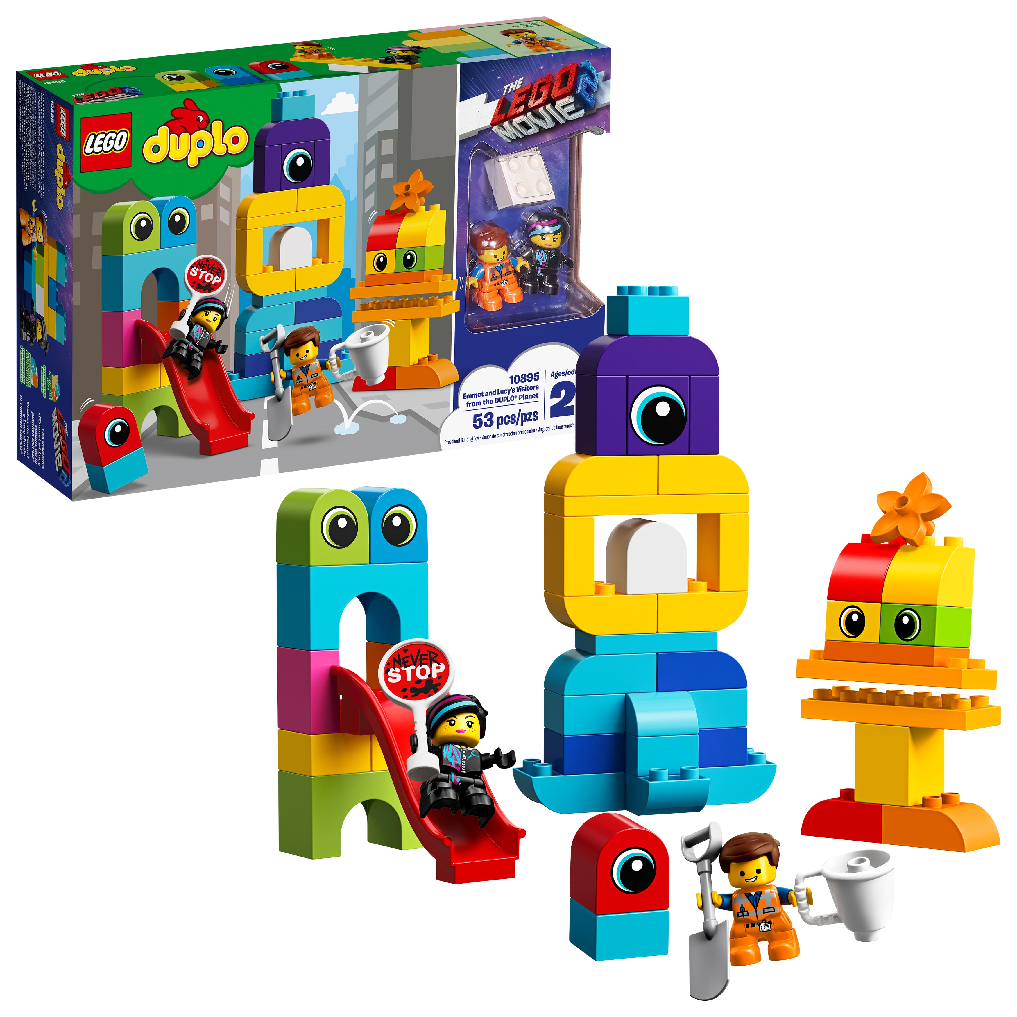 The Movie 2 Visitors Duplo Emmet Lego From And Lucy's 2YWH9EDI