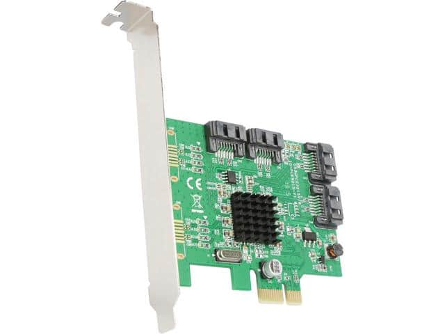 SYBA SI-PEX40108 4 Port SATA III PCI-e 2.0 x1 Card  With Promo Code EMCBBBE29 $26.99