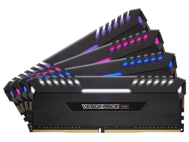 CORSAIR Vengeance RGB 32GB (4 x 8GB) DDR4 3000 (PC4-24000) C15 - Intel 100/200 Series Desktop Memory W/Code EMCBBBE48 $364.99