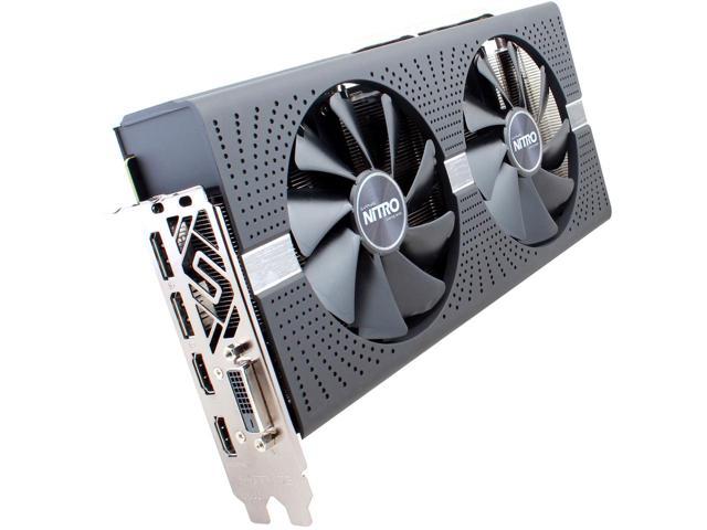 Sapphire Radeon NITRO+ RX 580 4GB GDDR5 PCI-E Dual HDMI / DVI-D / Dual DP w/ Backplate $199.99