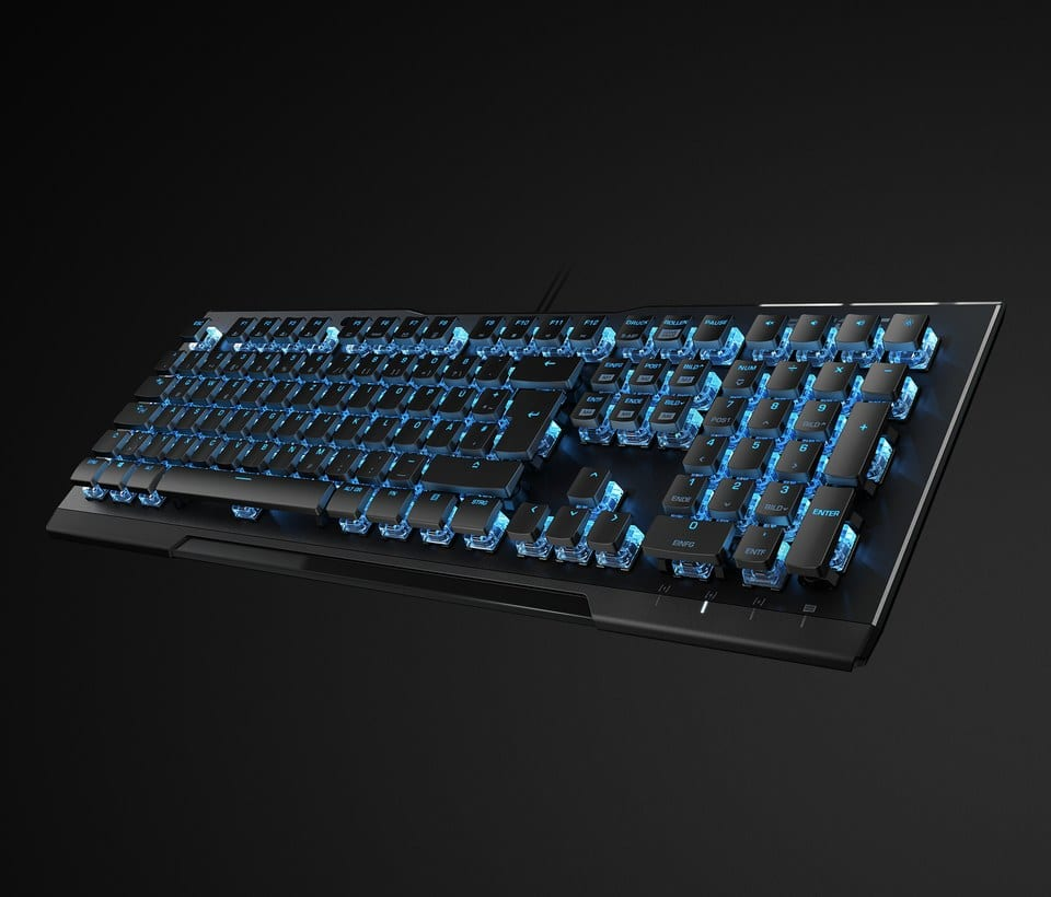 Vulcan 80 Wired Gaming Mechanical Roccat Titan Switch Keyboard with Back Lighting - Black $45