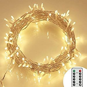 Koopower 36ft 100 LED Outdoor Battery Fairy Lights (Remote and Timer) $5.84