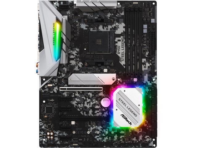 ASRock B450 Steel Legend AM4 AMD Promontory B450 SATA 6Gb/s USB 3.1 HDMI ATX AMD Motherboard $79.99 (AR) $80