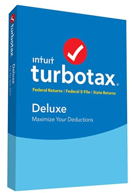 TurboTax Deluxe 2017 Fed + Efile + State PC/MAC Disc [$39.86 + tax @ Amazon]