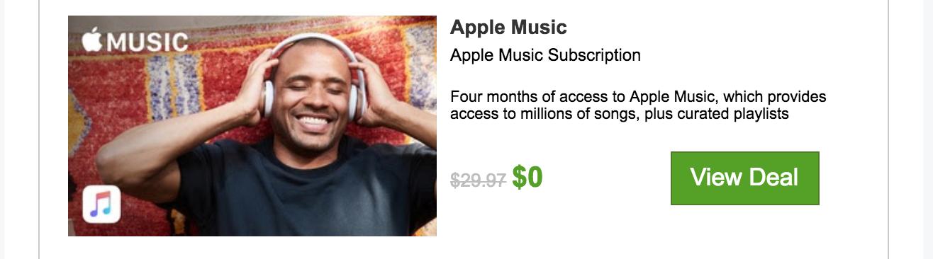 Apple Music - 4 Month Free