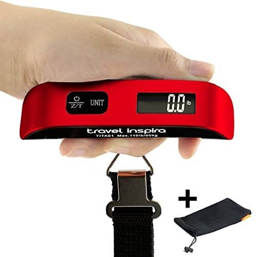 LCD Display Digital luggage Hanging Scale (upto 110LB/50KG) - $5.49 @Amazon