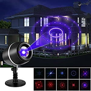 LESHP Projector Laser Lights Moving Galaxy Show Spotlights for $14.99 @Amazon