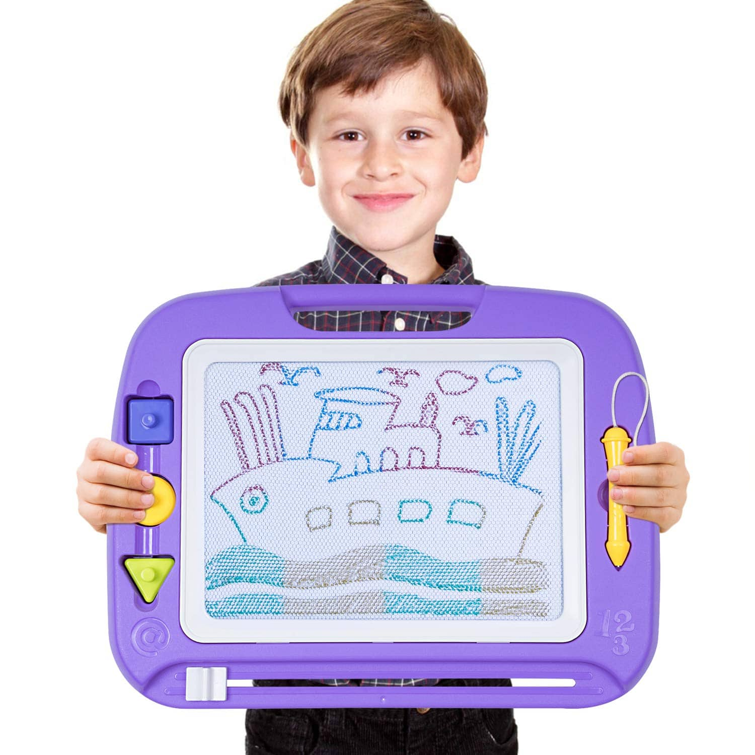 Magnetic Erasable Drawing Board Purple $13.64+Free Shipping