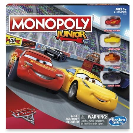 Select walmart stores Monopoly Junior: Disney Pixar Cars 3 Edition