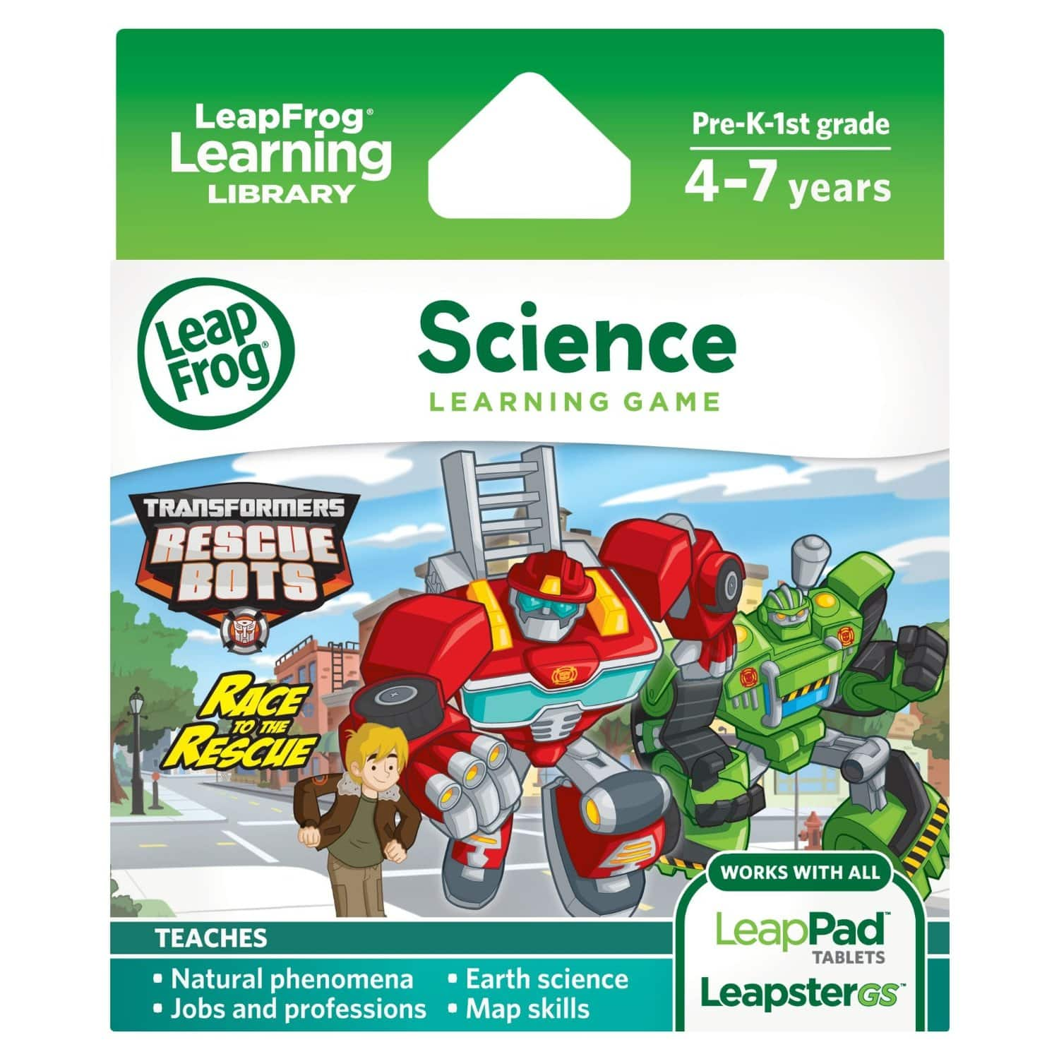 LeapFrog Transformers Rescue Bots Race to the Rescue Leappad game $5.38 Amazon