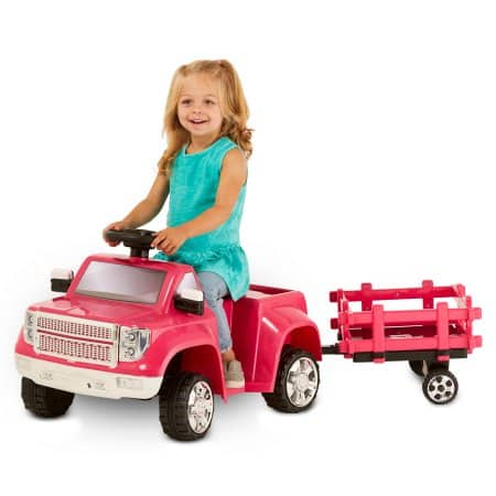 Kid Trax 6V Heavy Hauling Truck with Trailer Powered Ride On, Pink~$39 Free Shipping~50% off