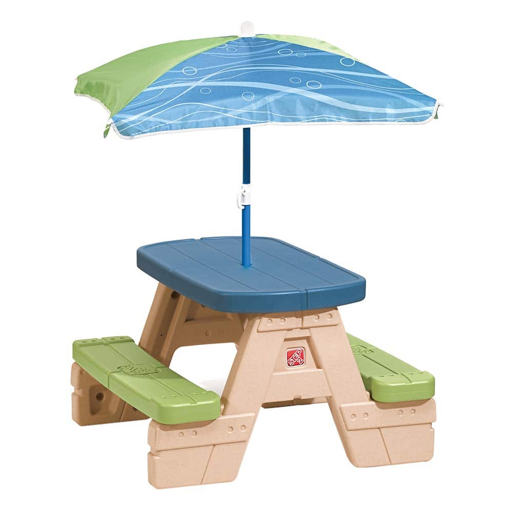 Step2 Sit and Play Kids Picnic Table With Umbrella - $34.38
