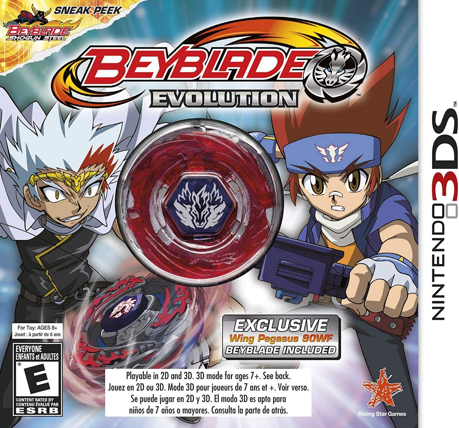 BEYBLADE: Evolution Collector's Edition with Wing Pegasus - Nintendo 3DS game $9.99 with free prime shipping
