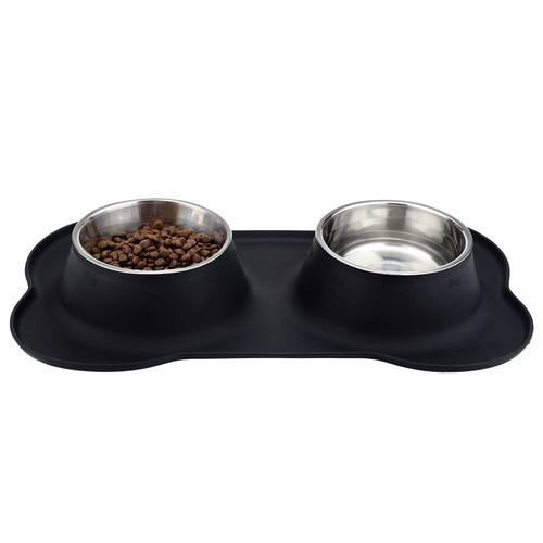 URPOWER Dog Bowls Stainless Steel Dog Bowl with No Spill Non-Skid Silicone Mat 53 oz Feeder Bowls Pet Bowl for Dogs Cats and Pets$19.99 $19.94