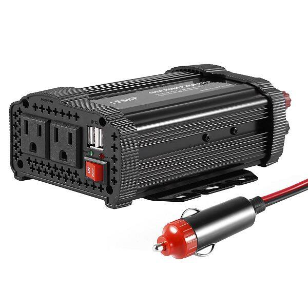 Leshp 400w Inverter Dc 12v To Ac 110v Car Adapter With 4 8a 2 Usb Charging Ports 16 79