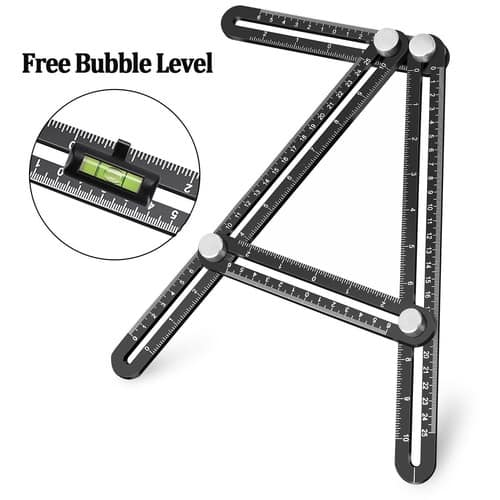 Template Tool, UBeesize Premium Aluminum Alloy Multi-Angle Measuring Ruler with Unique Line Level for $8.99 @Amazon