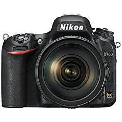 Nikon D750 + 24-120 f/4 Lens + Nikon MB-D16 multi battery pack Grip+ 128GB SD card + Amazon Backpack