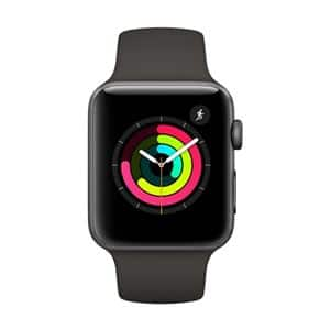 Apple Watch Series 3 42mm Smartwatch (GPS Only, Space Gray Aluminum Case, Gray Sport Band) $349.99