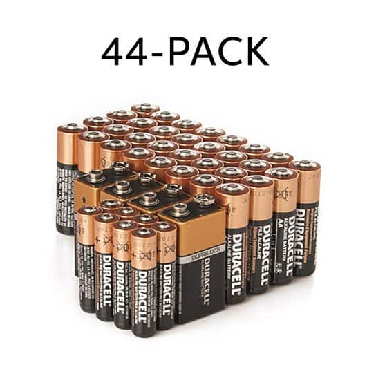 Duracell AA/AAA/9V CopperTop Alkaline Batteries - 44 Pack Free Shipping $33.6