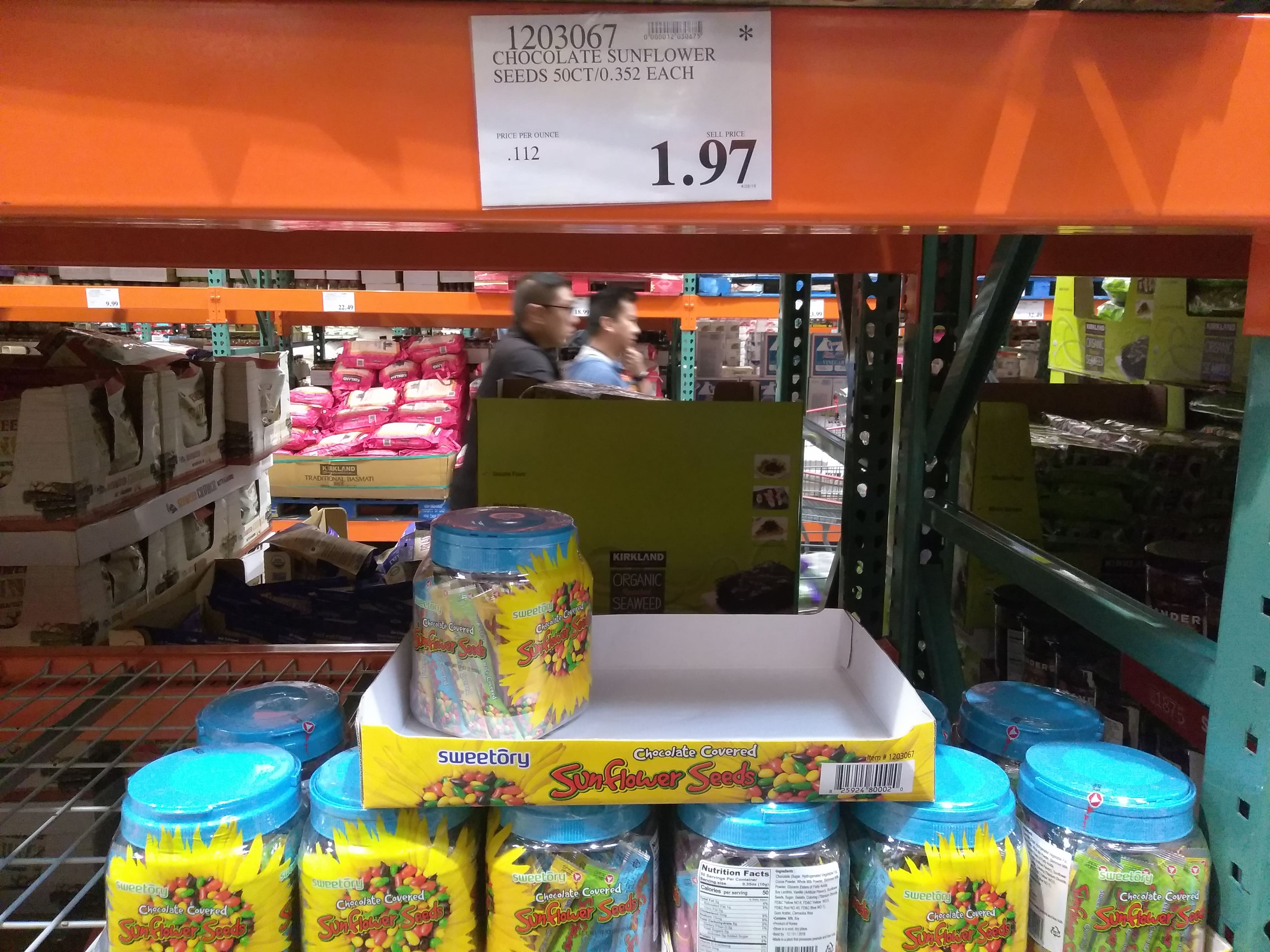 Sweetory Chocolate Covered Sunflower Seeds 50 CT @ Costco (Warehouse Only) YMMV $1.97