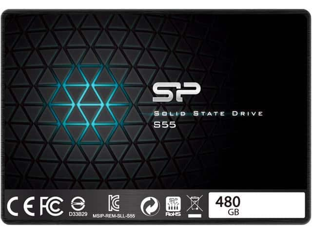 "Silicon Power Slim S55 2.5"" 480GB SATA III 3D TLC Internal Solid State Drive (SSD) $89.99 AC @ Newegg (Newsletter Subscriber Only)"