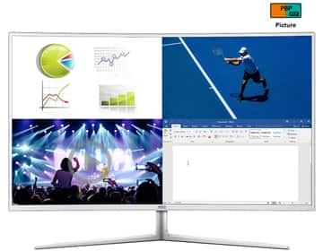"""AOC C4008VU8 White / Silver 40"""" Curved 4K UHD Display with 10-Bit Color 5ms HDMI Widescreen LED Backlight LCD Monitor $499.99 F/S @ NeweggFlash"""