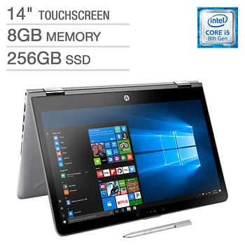 HP Pavilion x360 14 inch Touchscreen 2-in-1 Laptop - Intel Core i5 - 1080p - Bonus HP Digital Pen $549.99 + S/H