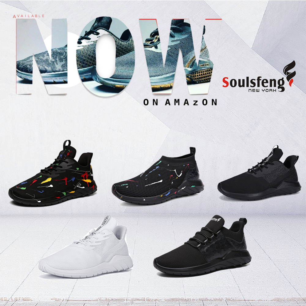Amazon 60% off  Soulsfeng Fashion Sneakers  $18-$23.99