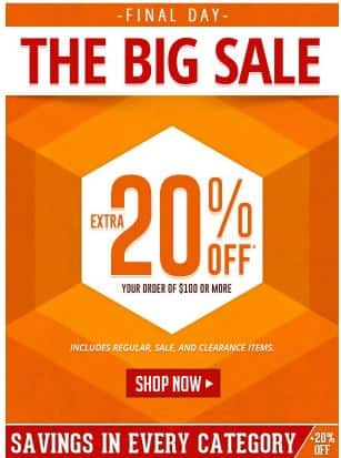 Shepplers or Boot Barn Final sale day to save 20% $100