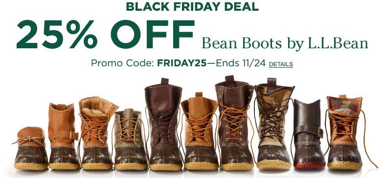 25% off L.L. Bean Boots with Promo Code Friday25