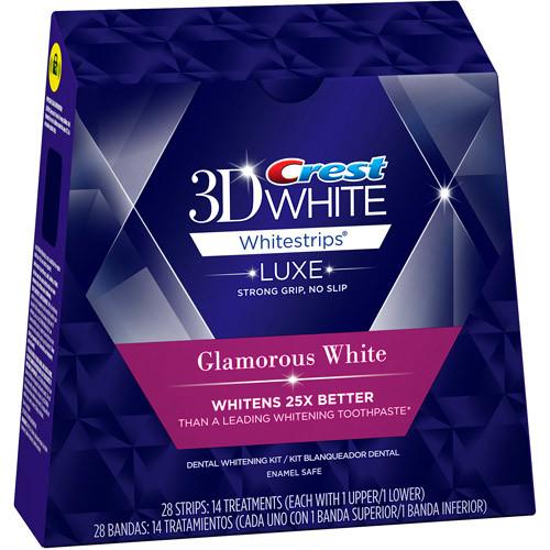 Crest 3D White Glamorous White Whitestrips Dental Teeth Whitening Strips Kit, 14 Treatments $25.29 after $5 off coupon at Amazon