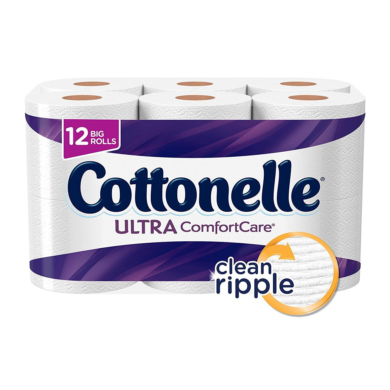 Cottonelle Ultra ComfortCare Big Roll Toilet Paper, 12 Rolls $5.19 Add On Item at Amazon